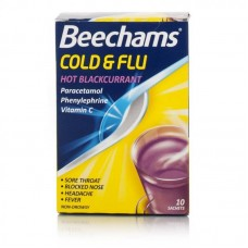 Beechams Cold & Flu Hot Blackcurrant 10s