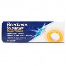Beechams Cold Relief Orange Effervescent Tablets 16tabs