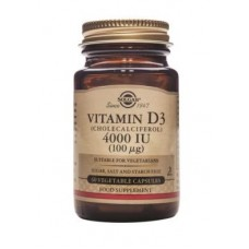 Solgar Vitamin D3 4000 IU (100 µg) Vegetable Capsules (60)