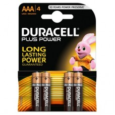 Duracell Plus Power AAA batteries x 4
