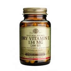 Solgar Dry Vitamin E 134 mg (200 IU) Vegetable Capsules
